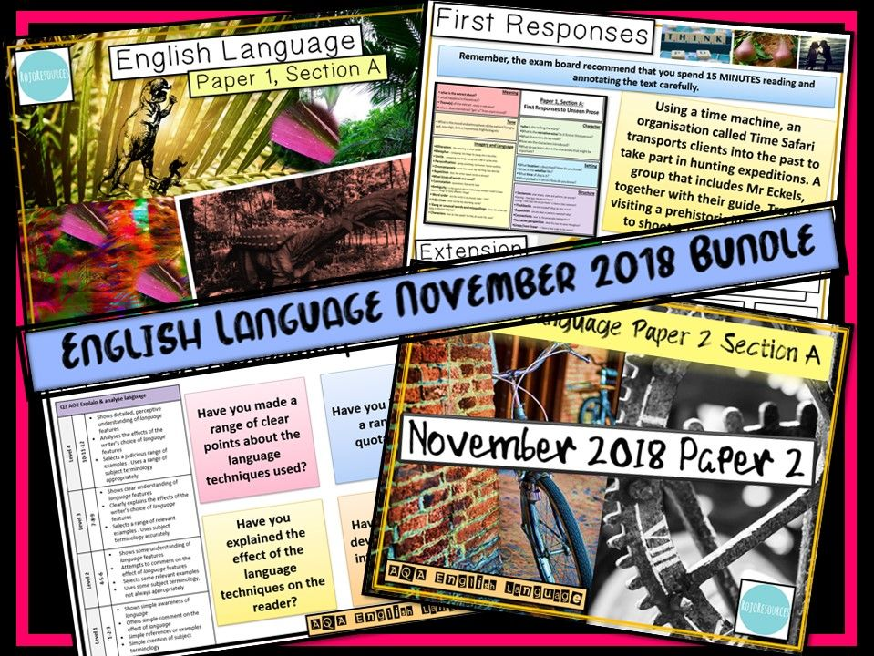 AQA English Language Revision Bundle - November 2018