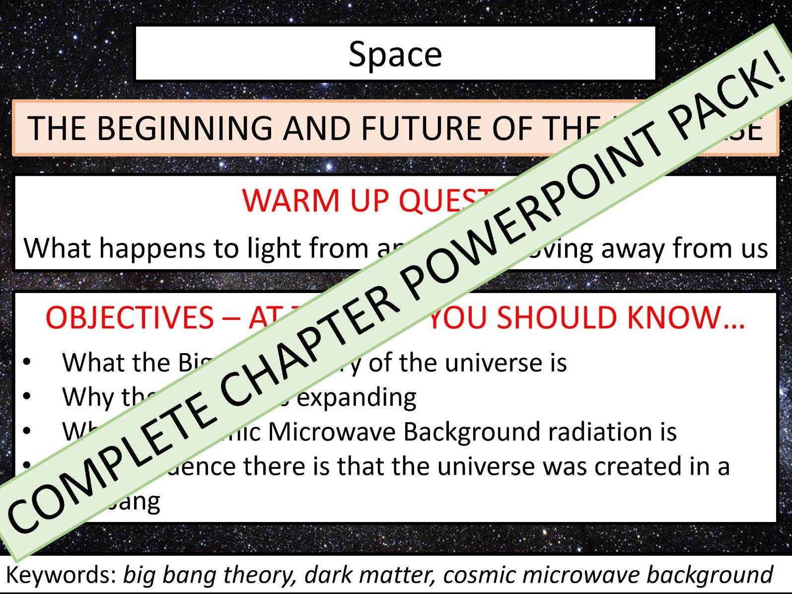 AQA GCSE Physics - Chapter 16: Space - Complete Chapter Lesson PowerPoints Bundle