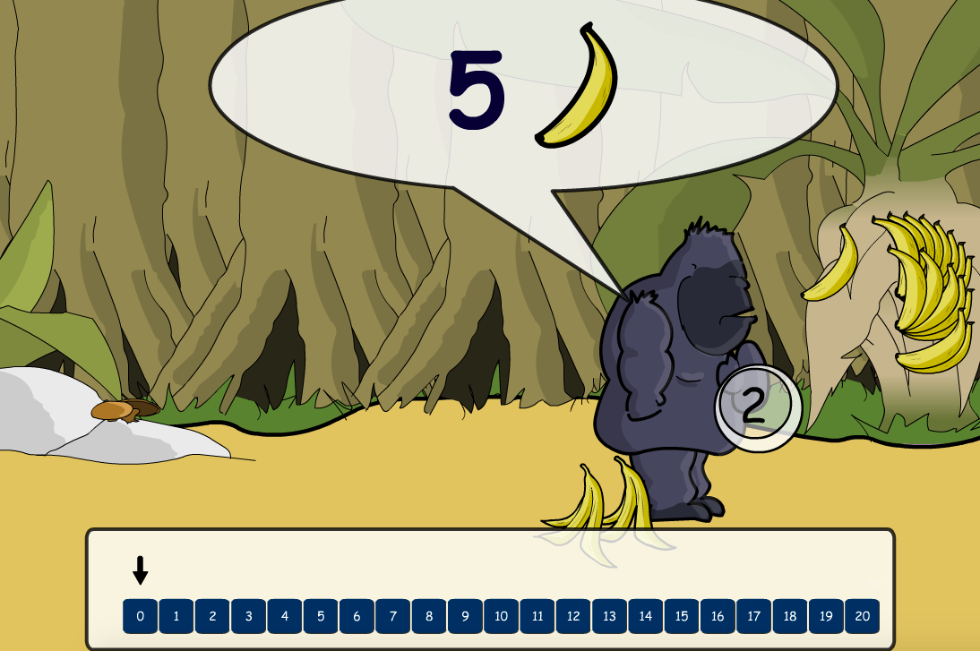 Addition to 20 - Gorilla Shopping Interactive Game - KS1 Number