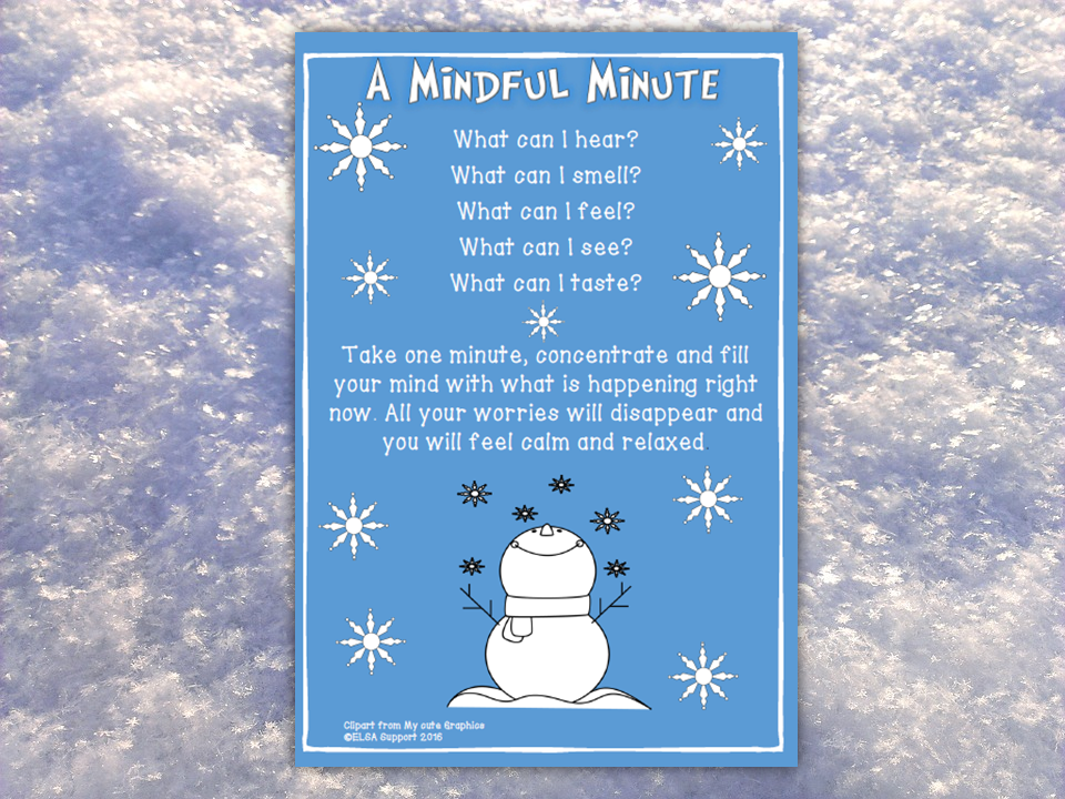 Mindfulness, Emotional Intelligence, Anxiety, Worries - Take a Mindful Minute