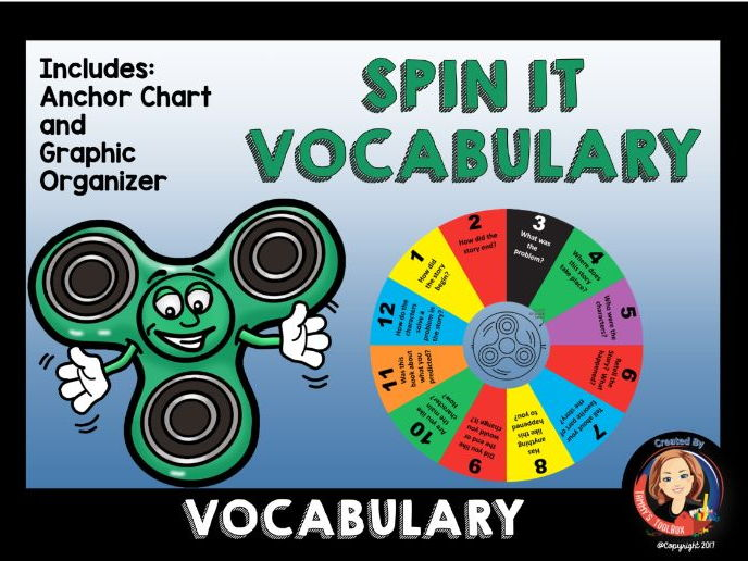 Vocabulary Spin It Game