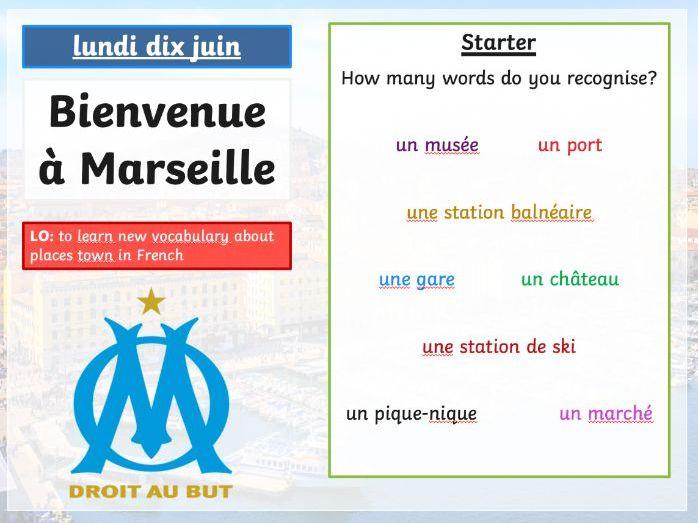 Bienvenue a Marseille (Town vocab)
