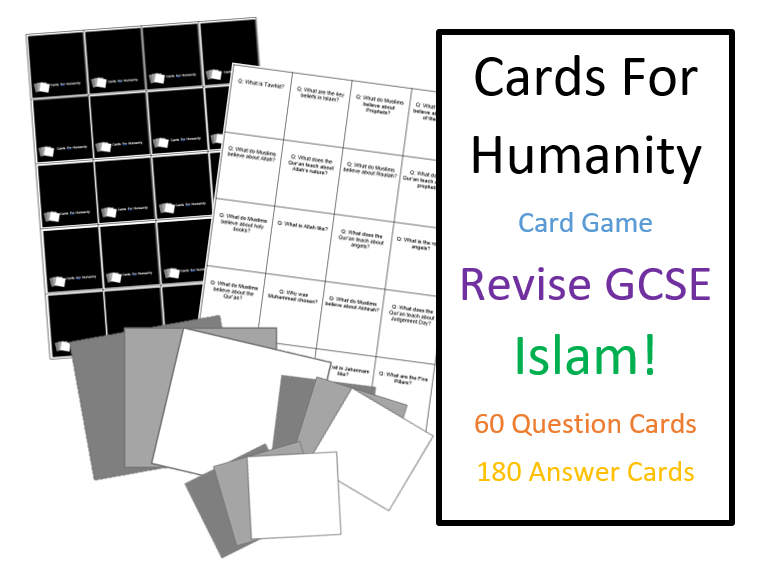 GCSE Islam Cards For Humanity Game for Revision