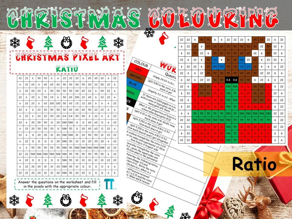 Christmas maths GCSE revision on ratio