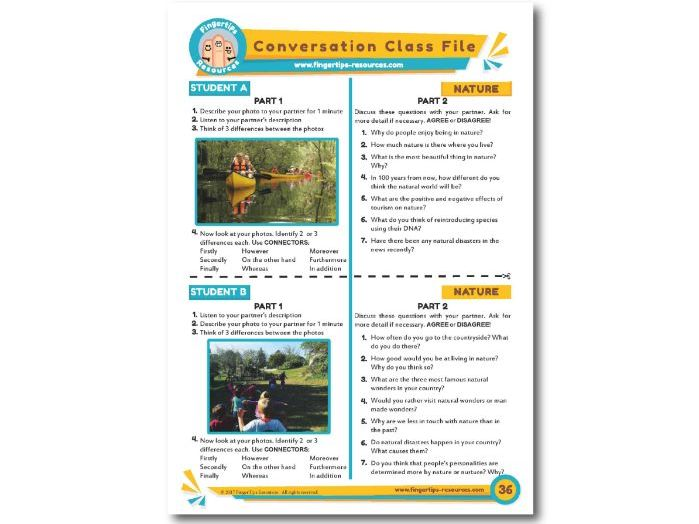Nature - ESL Conversation Activity