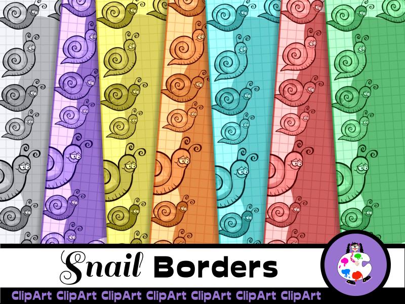 Garden Snail Graph Paper Borders