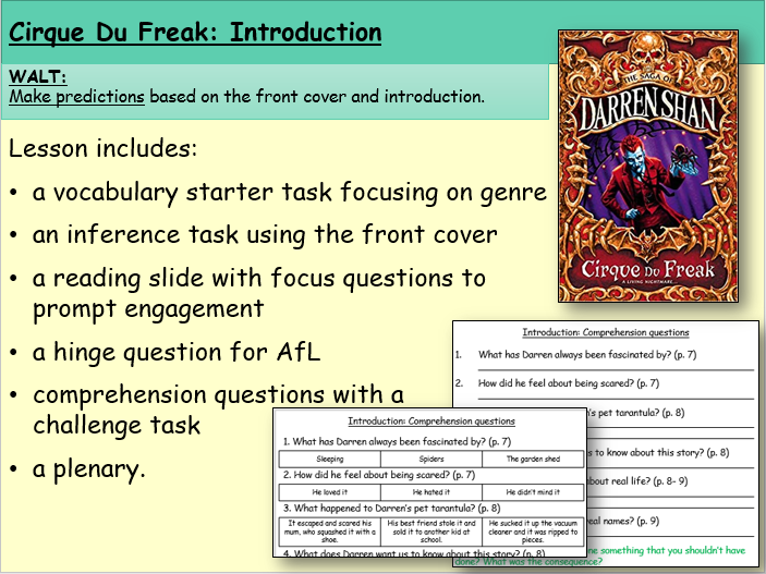 Cirque du Freak: Introduction (Reading and Comprehension)