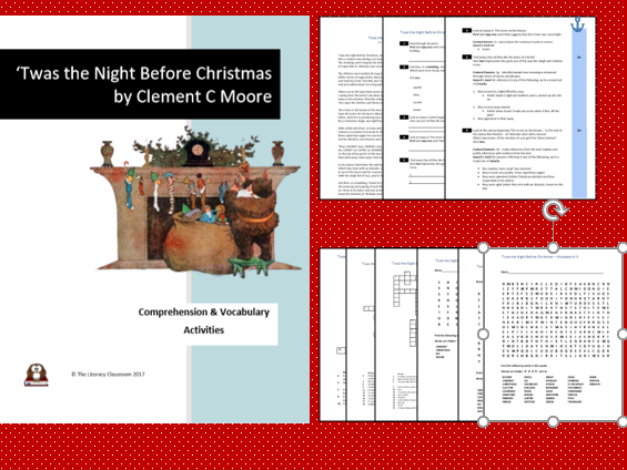 'Twas the Night Before Christmas: Comprehension and Vocabulary Activities