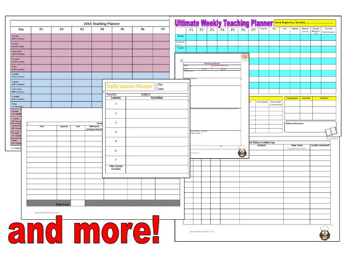 Ultimate Teaching Organiser Pack
