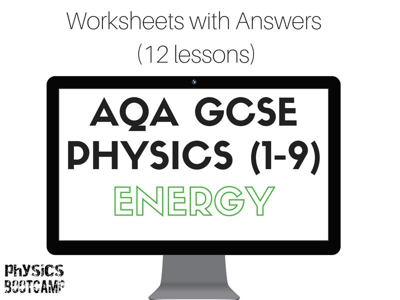 AQA GCSE Physics (1-9) ENERGY 12 worksheets