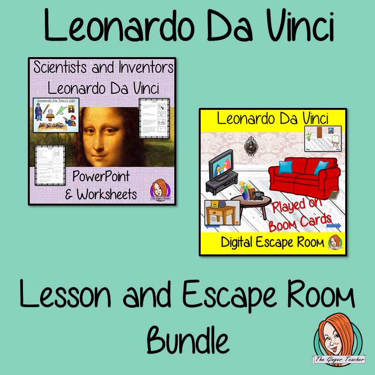 Leonardo Da Vinci Lesson and Escape Room Bundle