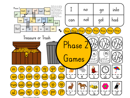 Phase 2  Phonics Games