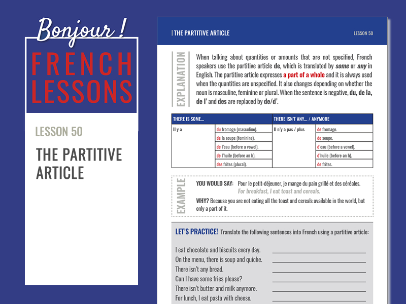 The partitive article in French