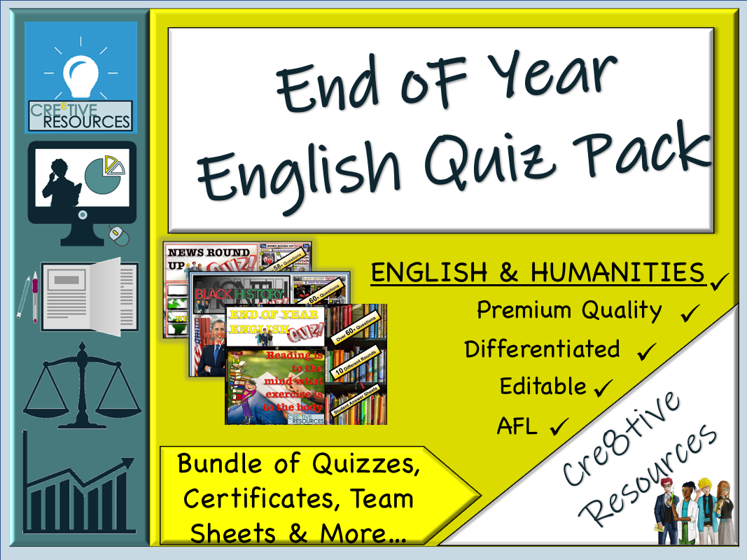 End of Year English Quiz