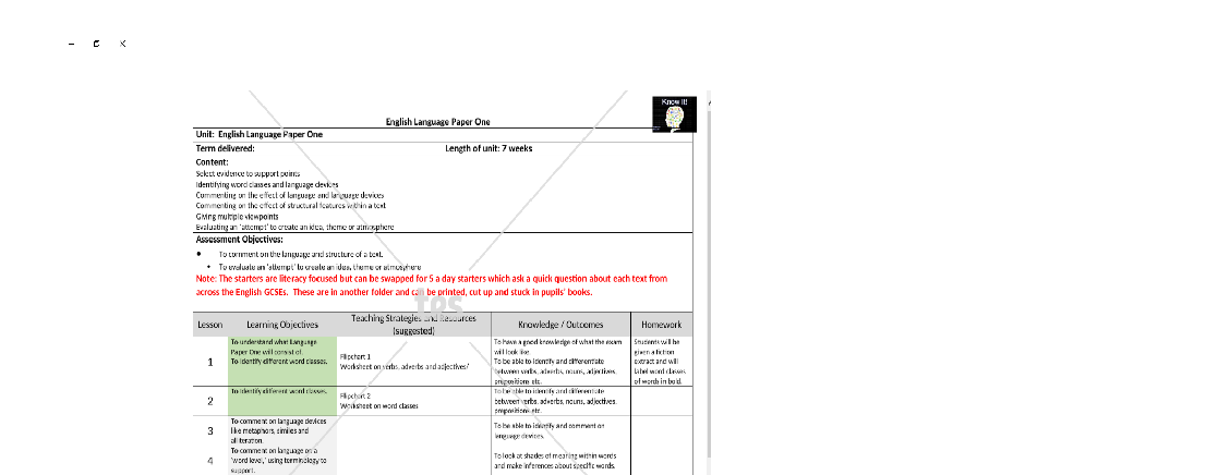 Edexcel English Language Paper 1 BIG BUNDLE