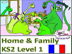 Primary KS2 French WHOLE UNIT: Home & Family (Level 1)