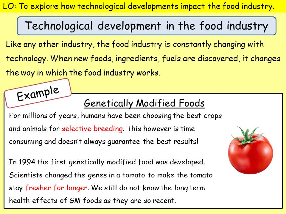 Technological developments in food - additives, fortification etc.