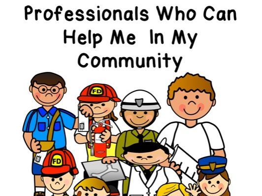 Professional people who can help us in our community