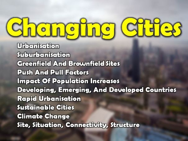 Changing Cities [GCSE}