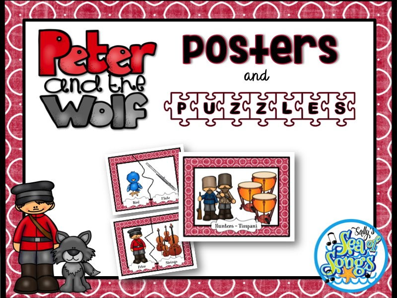 Peter and the Wolf Character Posters and Puzzles