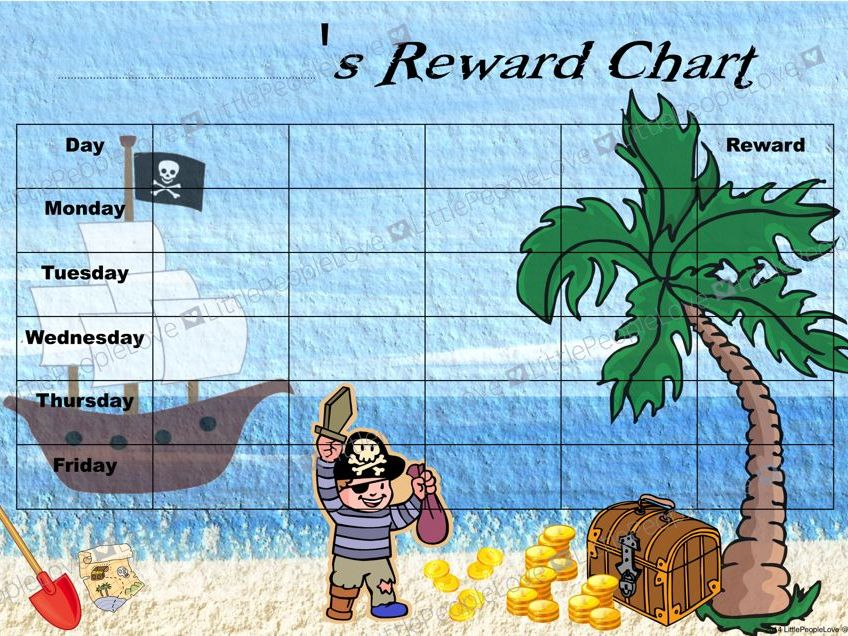 Reward Chart - Pirate