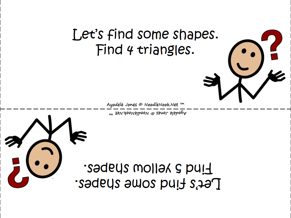 Let's Find Some Shapes- An Activity for Colors and Shapes