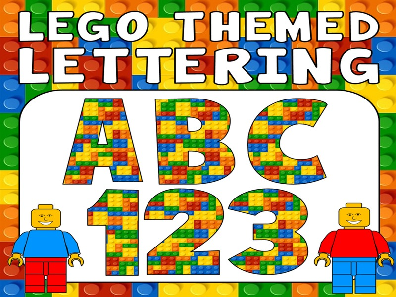 lego display lettering teaching resources ks 1