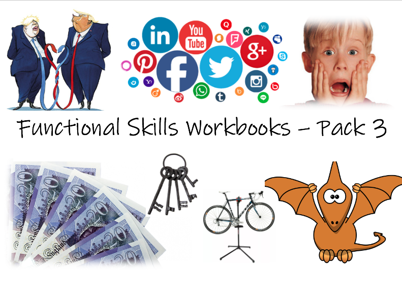 Functional Skills English L1/L2 Workbooks - Pack 3