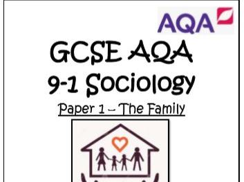 GCSE 9-1 SOCIOLOGY PAPER 1 FAMILY 30 MODEL ANSWERS 3-4 MARKERS