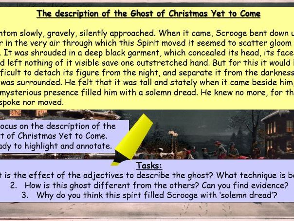 The Ghosts in A Christmas Carol