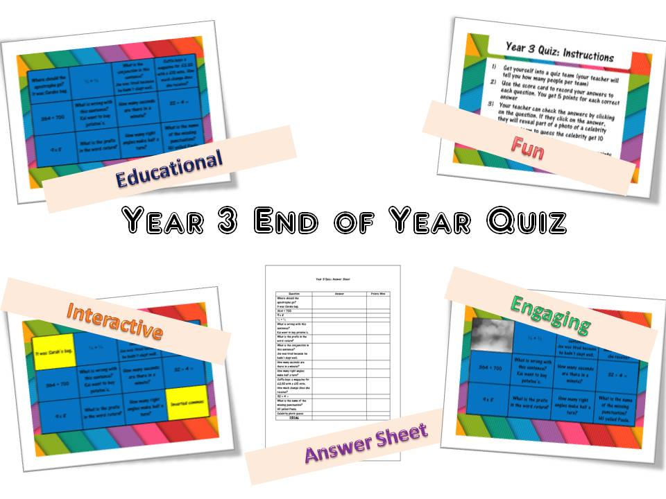 Year 3 End of Year Quiz