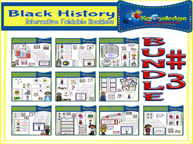 Black History Interactive Foldables Bundle #3