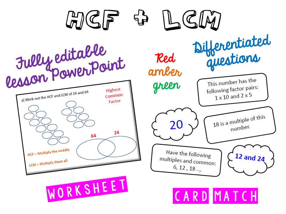 HCF: LCM: Prime Factor
