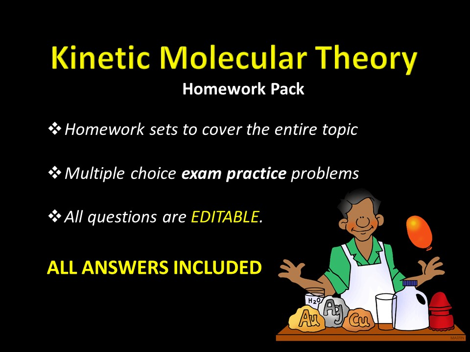 Kinetic Molecular Theory Homework Sets W Answers Sample