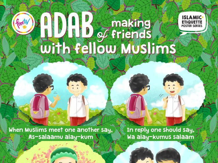 Islamic Etiquette Poster 06 - Making Friends
