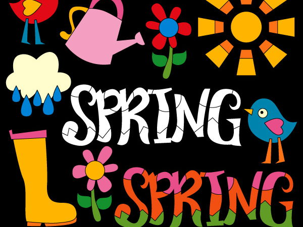 Spring is in the air clipart - Fun spring clip art