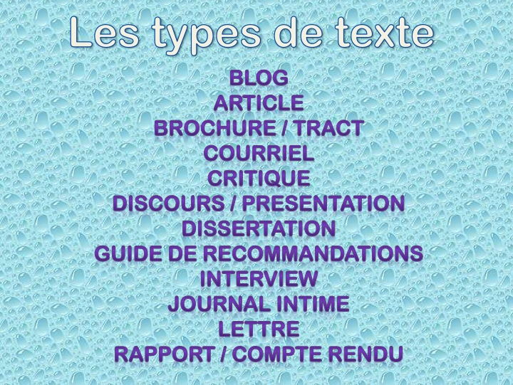 IB DP French B - Text types practice for paper 2  (PDF - cannot be edited)