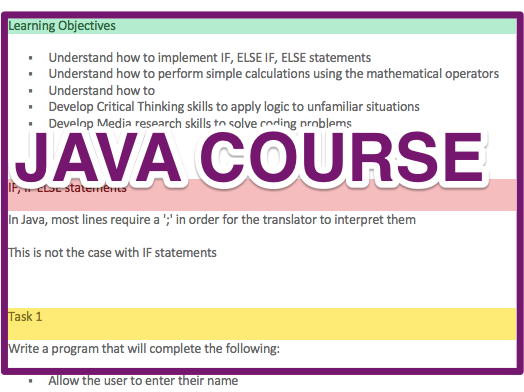 [JAVA PROGRAMMING COURSE]