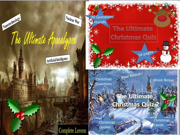 The Ultimate Apocalypse Creative Writing + Two Christmas Quizzes