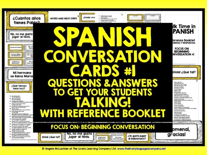 SPANISH CONVERSATION CARDS #1