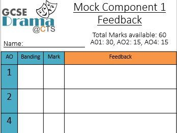 Component 1 (Mock) Feedback sheet