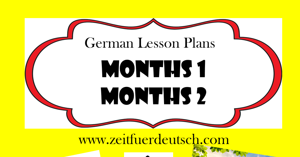 Months Bundle. German Powerpoints, Lesson Plans and Resources & Bonus 'Weekdays' Lessons