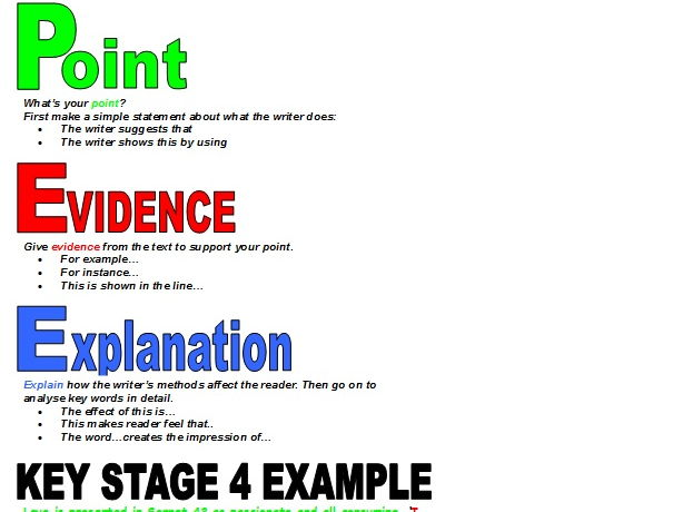 point  evidence  explain poster by mgroverresources