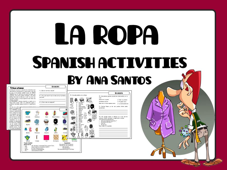 La Ropa Spanish Activities By Anagonzalezsantos Teaching