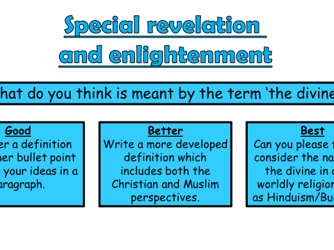 AQA A GCSE Theme C Existence of God and Revelation: Lesson 5 Special Revelation