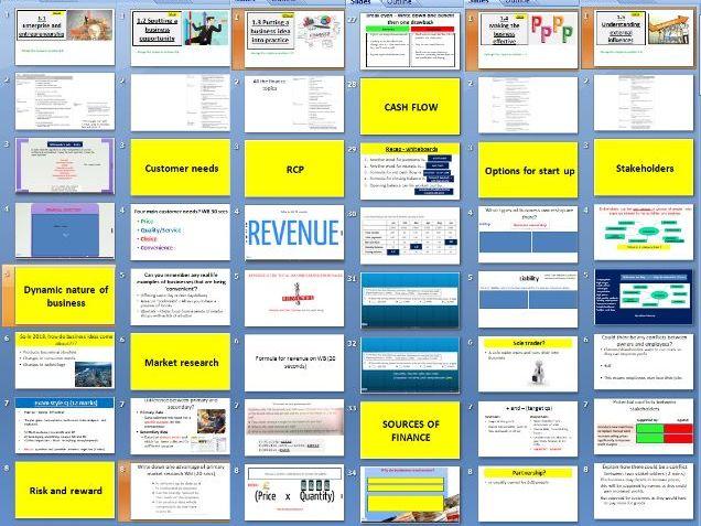 Edexcel GCSE Business (9-1) Theme 1 (ALL) revision