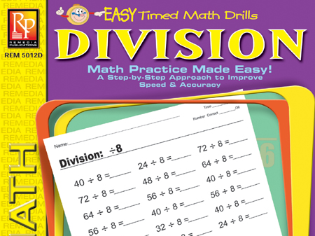 Division: Easy Timed Math Drills