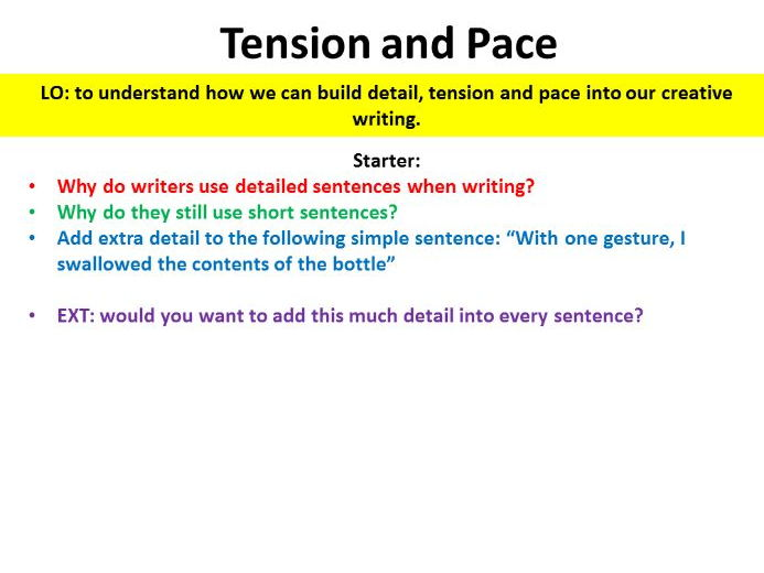 Tension and Pace