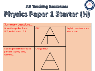 AQA GCSE Science P1 Starters (Value Bundle)