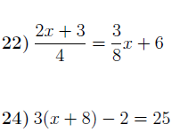 Solving linear equations worksheet no 2 (with solutions)